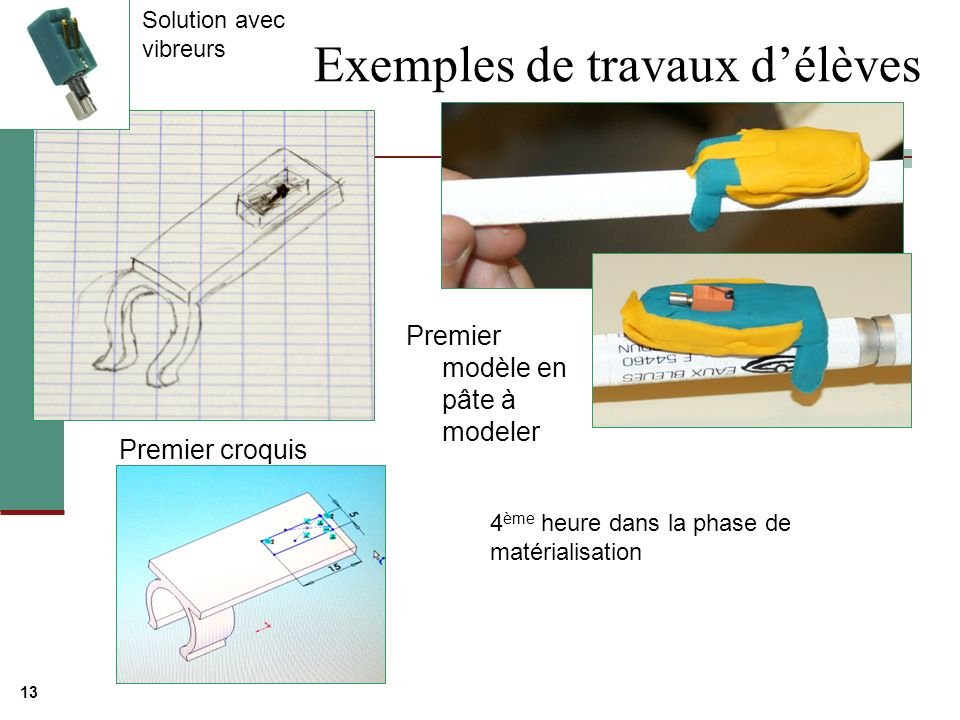 Exemples de travaux d'élèves