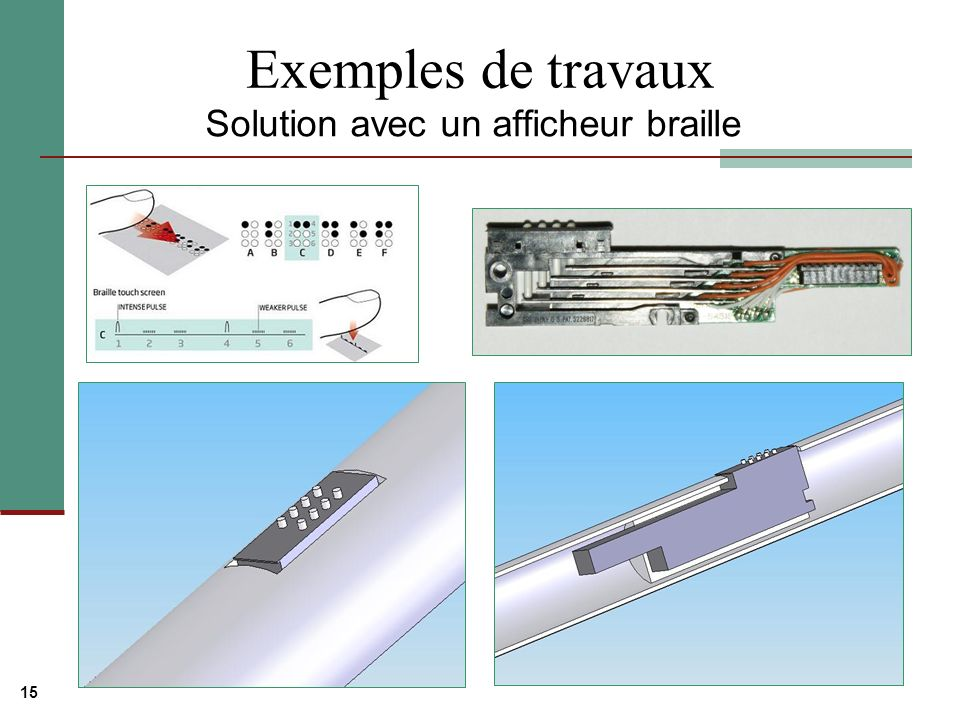 Solution avec un afficheur braille