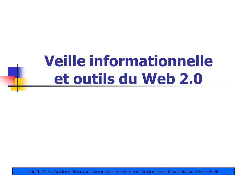 Veille informationnelle et outils du Web 2.0