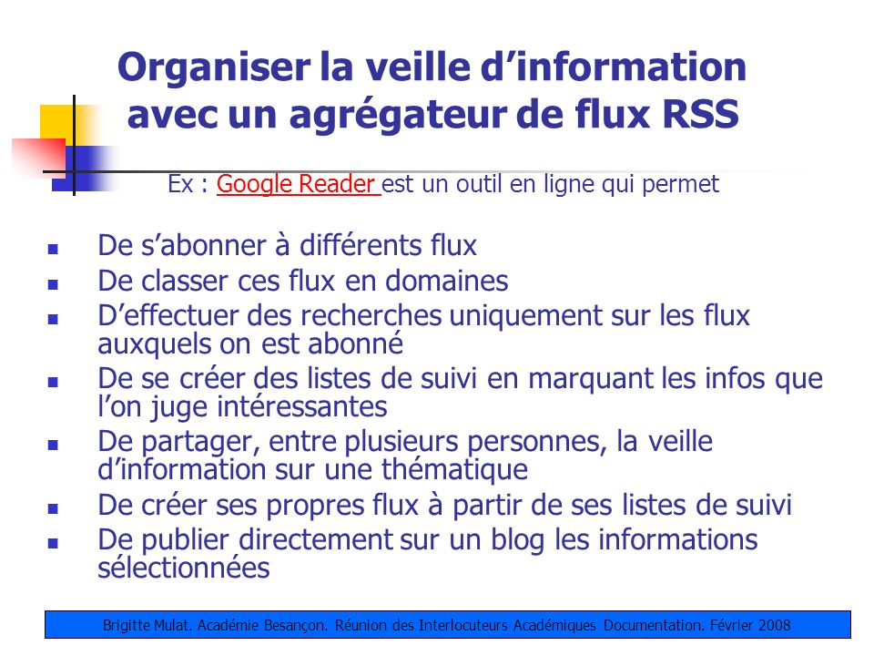 Organiser la veille d'information avec un agrégateur de flux RSS