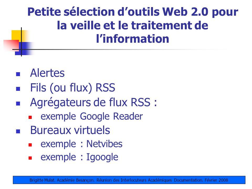 Agrégateurs de flux RSS : Bureaux virtuels