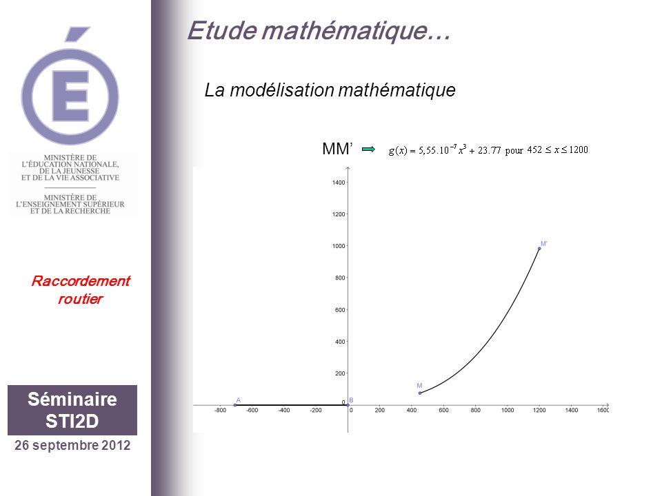 Etude mathématique… La modélisation mathématique Séminaire STI2D MM'