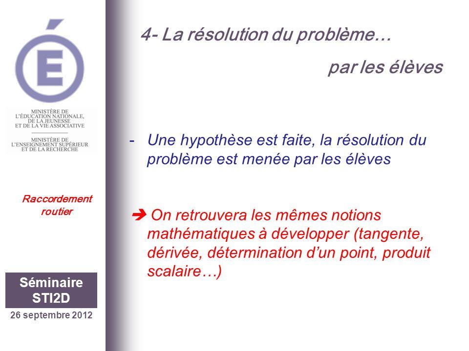 4- La résolution du problème… par les élèves