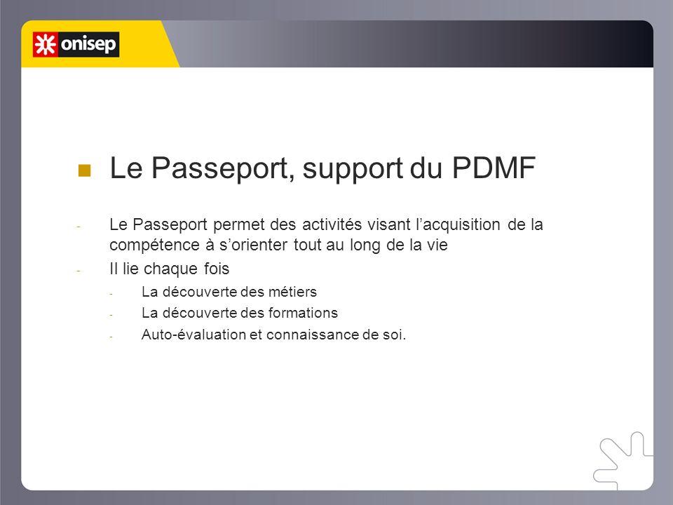 Le Passeport, support du PDMF