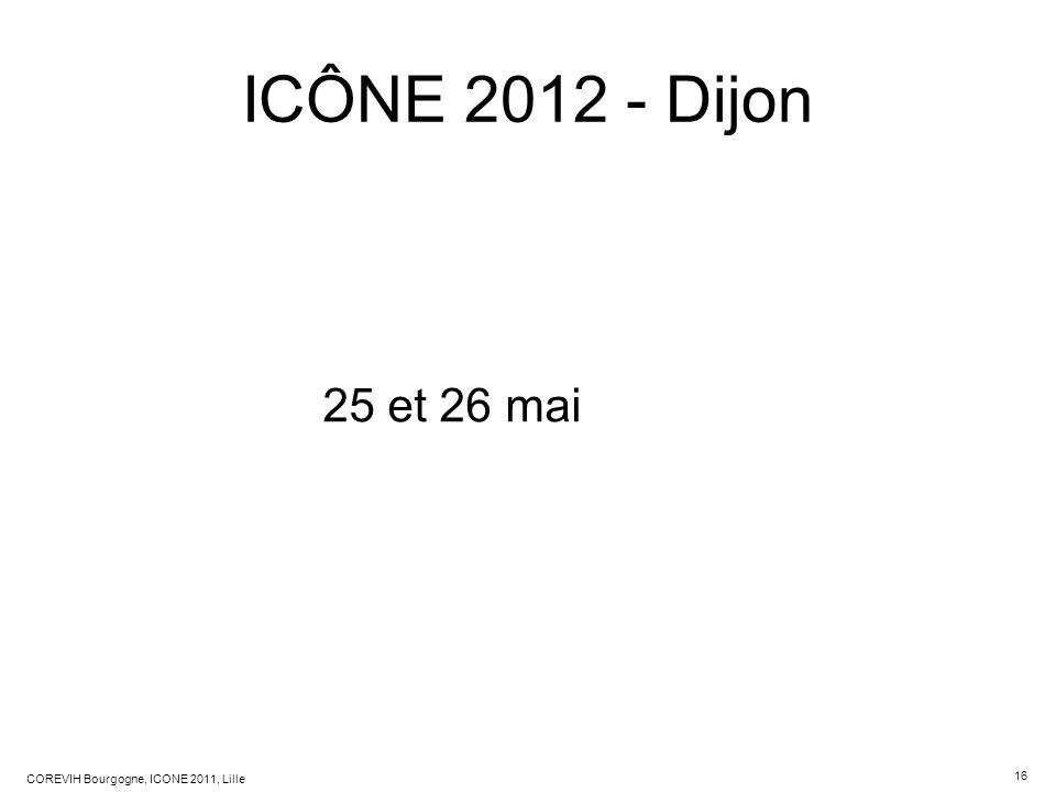 ICÔNE 2012 - Dijon 25 et 26 mai