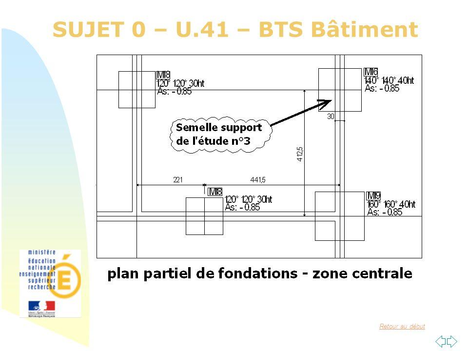 SUJET 0 – U.41 – BTS Bâtiment