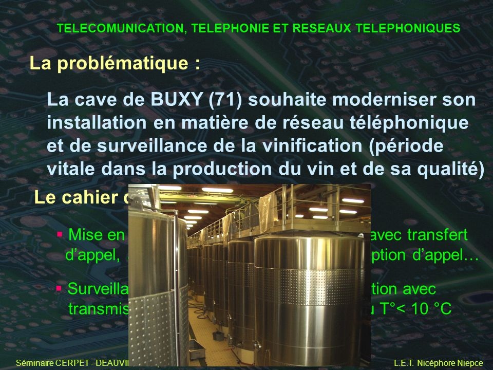 TELECOMUNICATION, TELEPHONIE ET RESEAUX TELEPHONIQUES