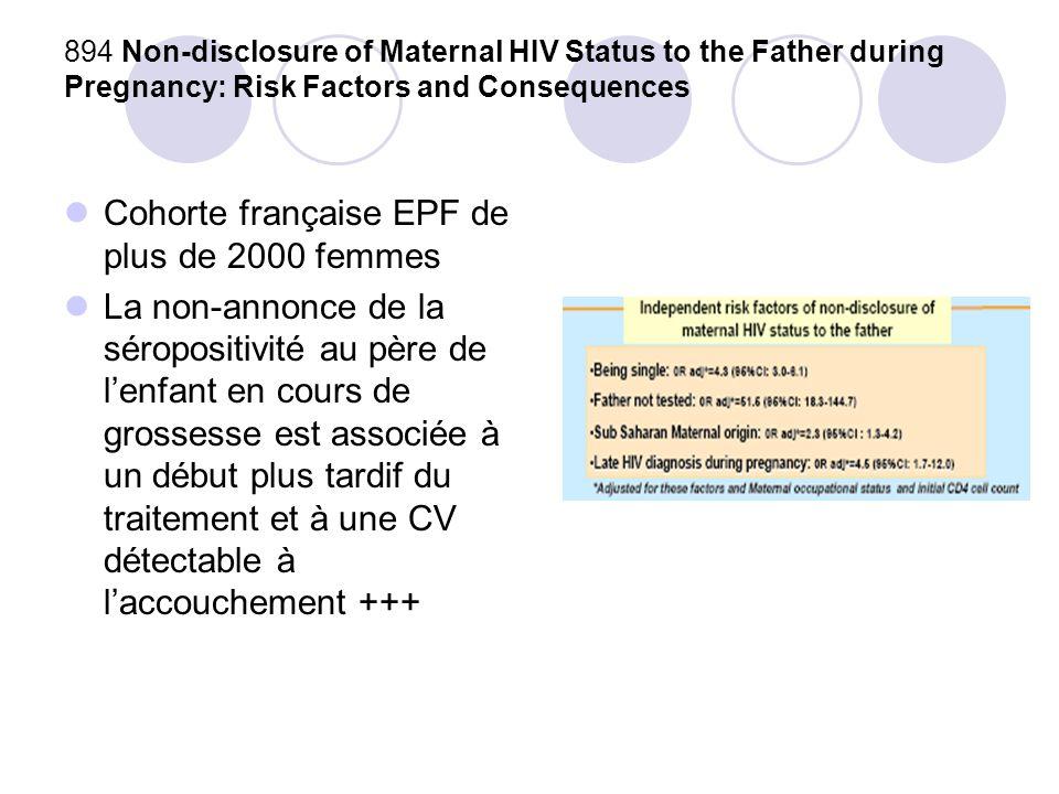 Cohorte française EPF de plus de 2000 femmes
