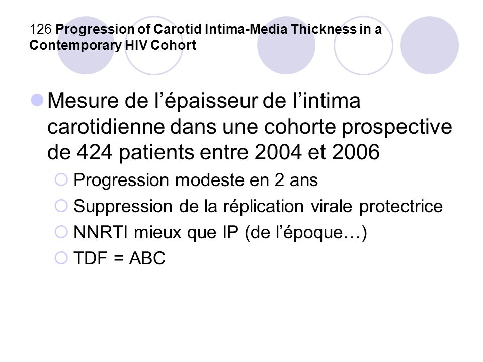 126 Progression of Carotid Intima-Media Thickness in a Contemporary HIV Cohort