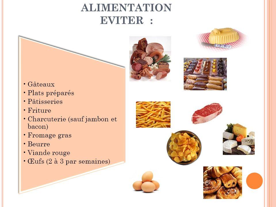 ALIMENTATION EVITER : Gâteaux Plats préparés Pâtisseries Friture