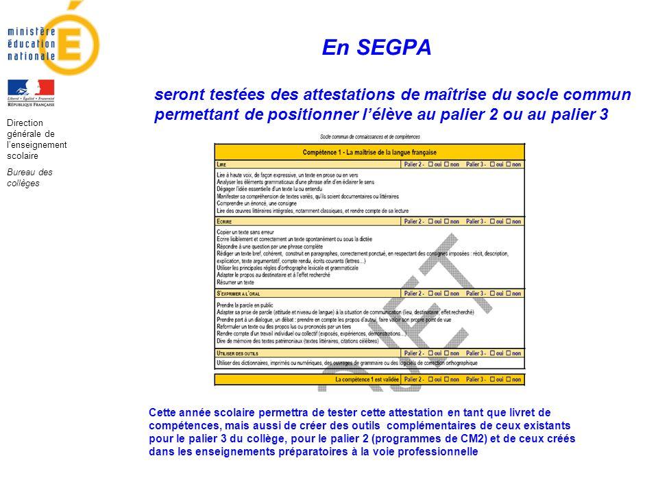 Direction générale de l'enseignement scolaire