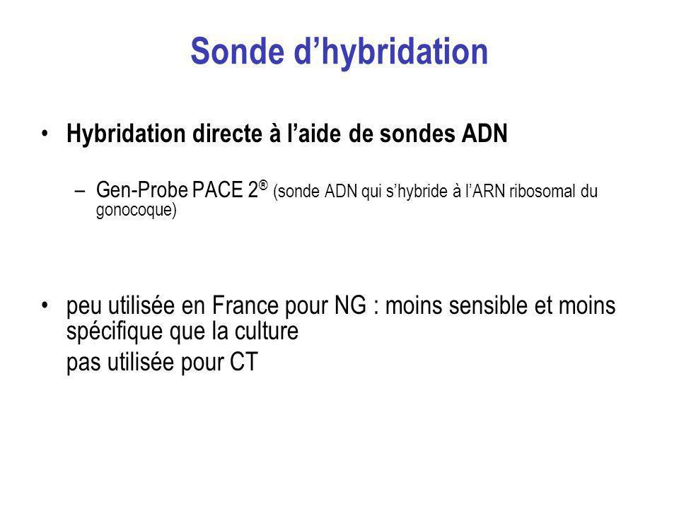 Sonde d'hybridation Hybridation directe à l'aide de sondes ADN