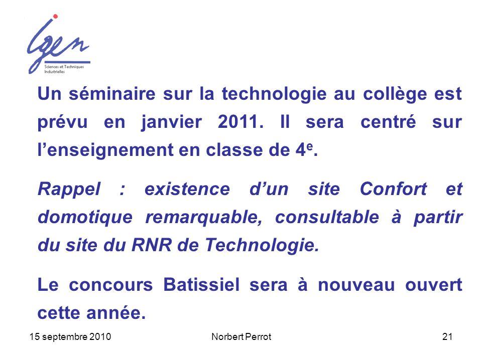 Le concours Batissiel sera à nouveau ouvert cette année.