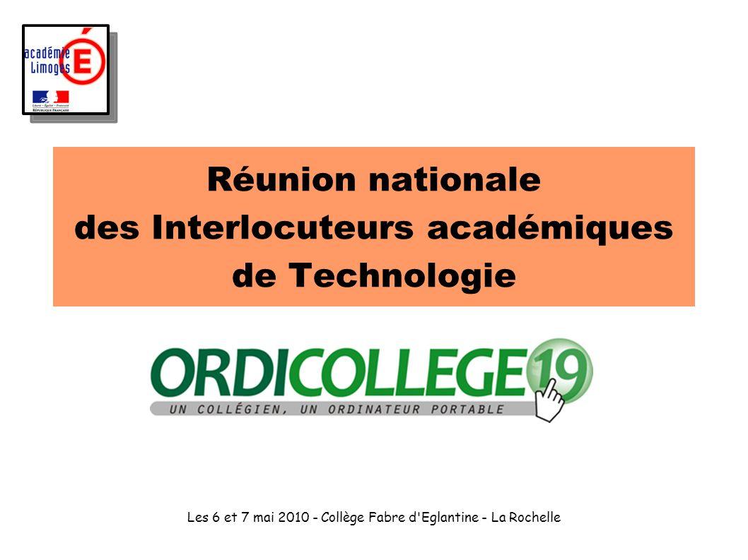 Réunion nationale des Interlocuteurs académiques de Technologie