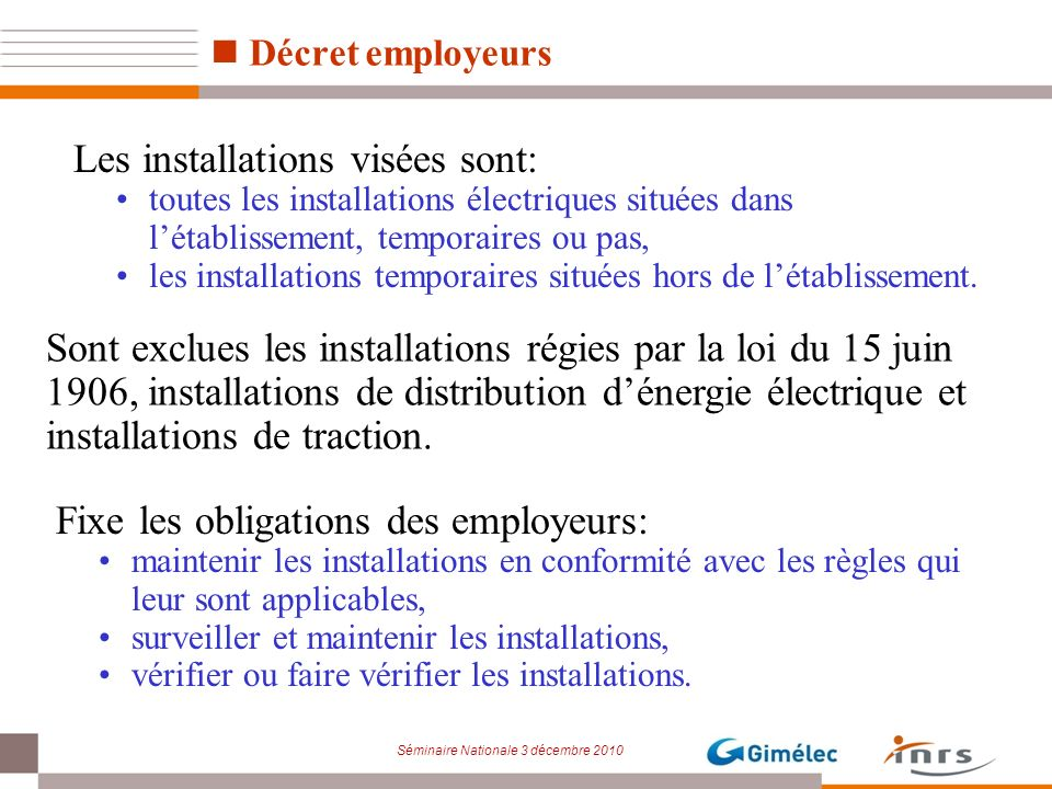 Christian atlani gimelec jean louis poyard inrs ppt t l charger - Faire verifier son installation electrique ...