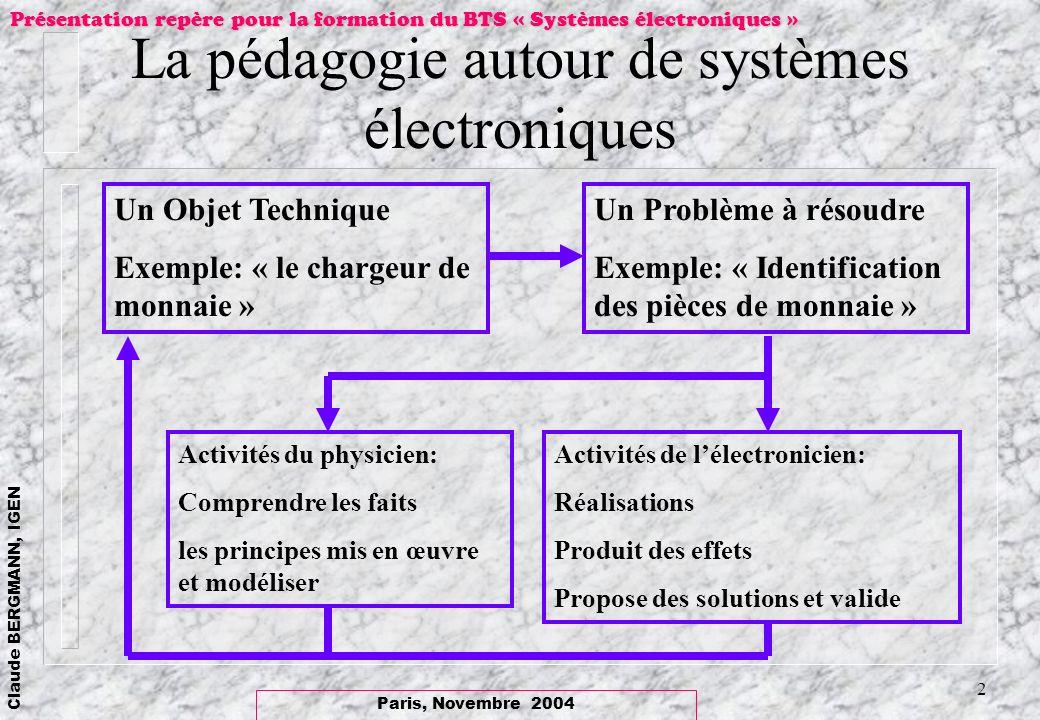 La pédagogie autour de systèmes électroniques