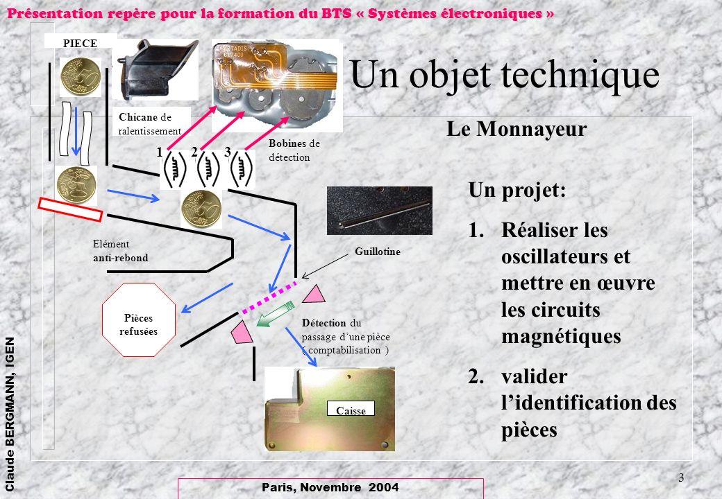 Un objet technique Le Monnayeur Un projet: