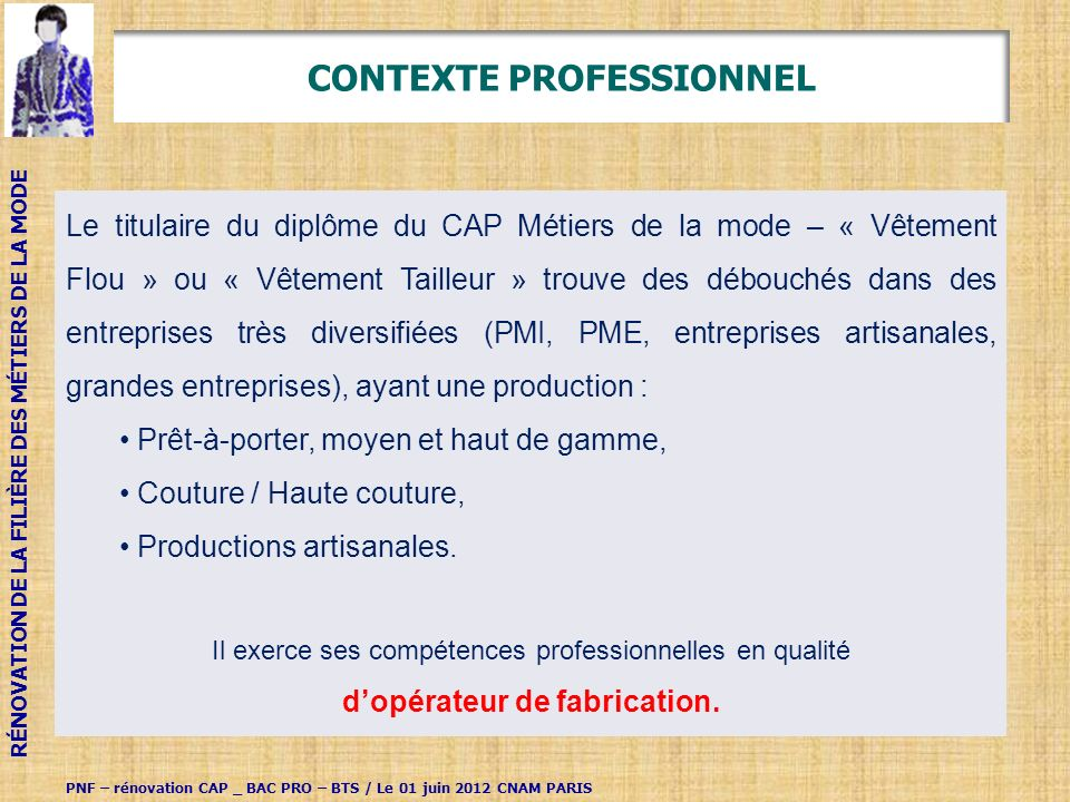 CONTEXTE PROFESSIONNEL