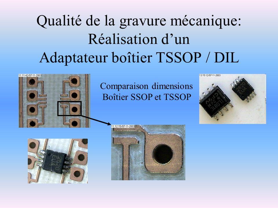 Qualité de la gravure mécanique: Réalisation d'un Adaptateur boîtier TSSOP / DIL