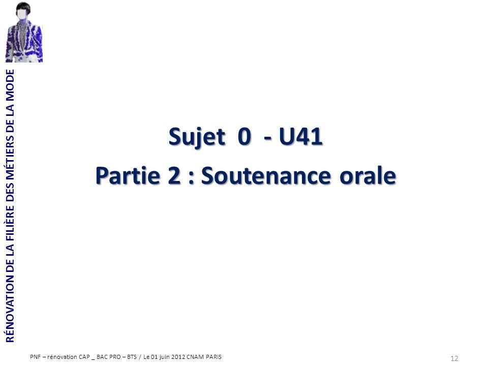Partie 2 : Soutenance orale
