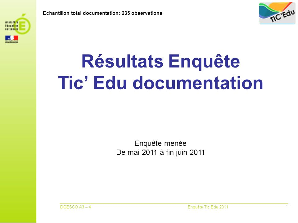 Echantillon total documentation: 235 observations