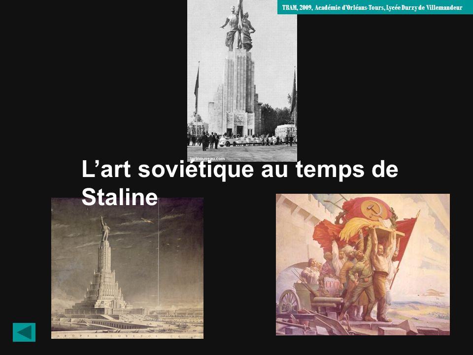 L'art soviétique au temps de Staline