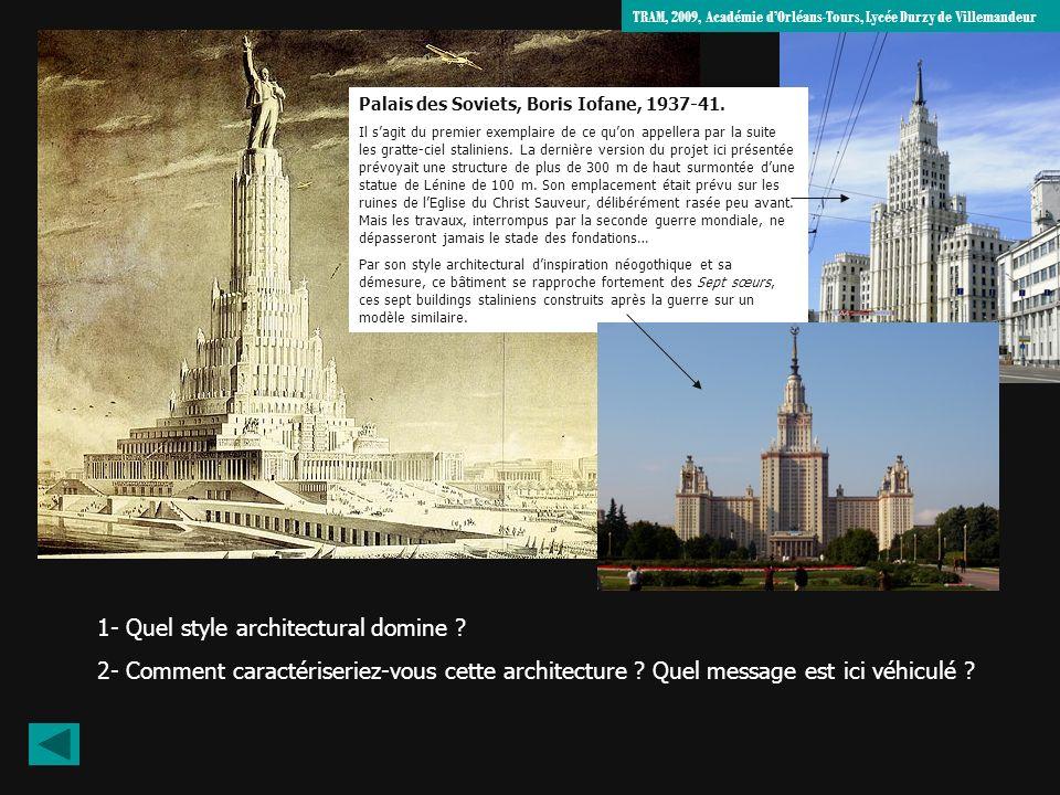 1- Quel style architectural domine