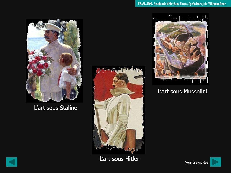 L'art sous Mussolini L'art sous Staline L'art sous Hitler
