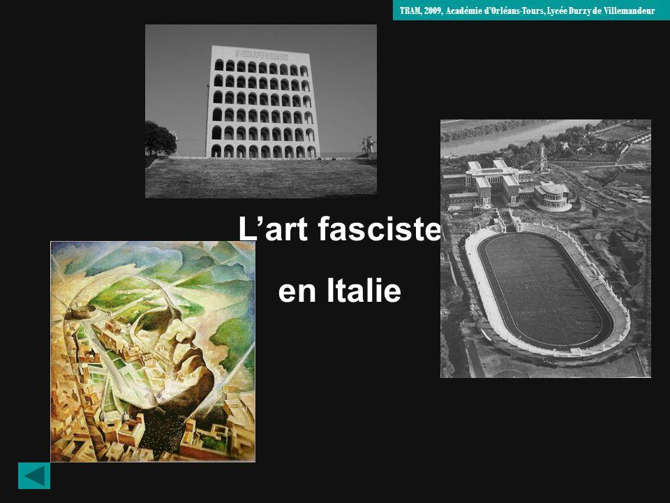 L'art fasciste en Italie