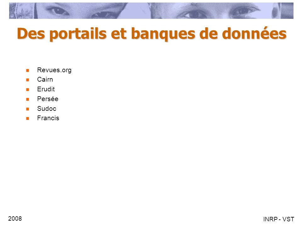 Des portails et banques de données
