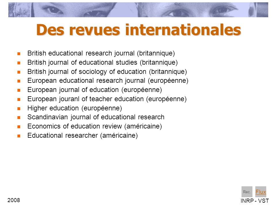 Des revues internationales