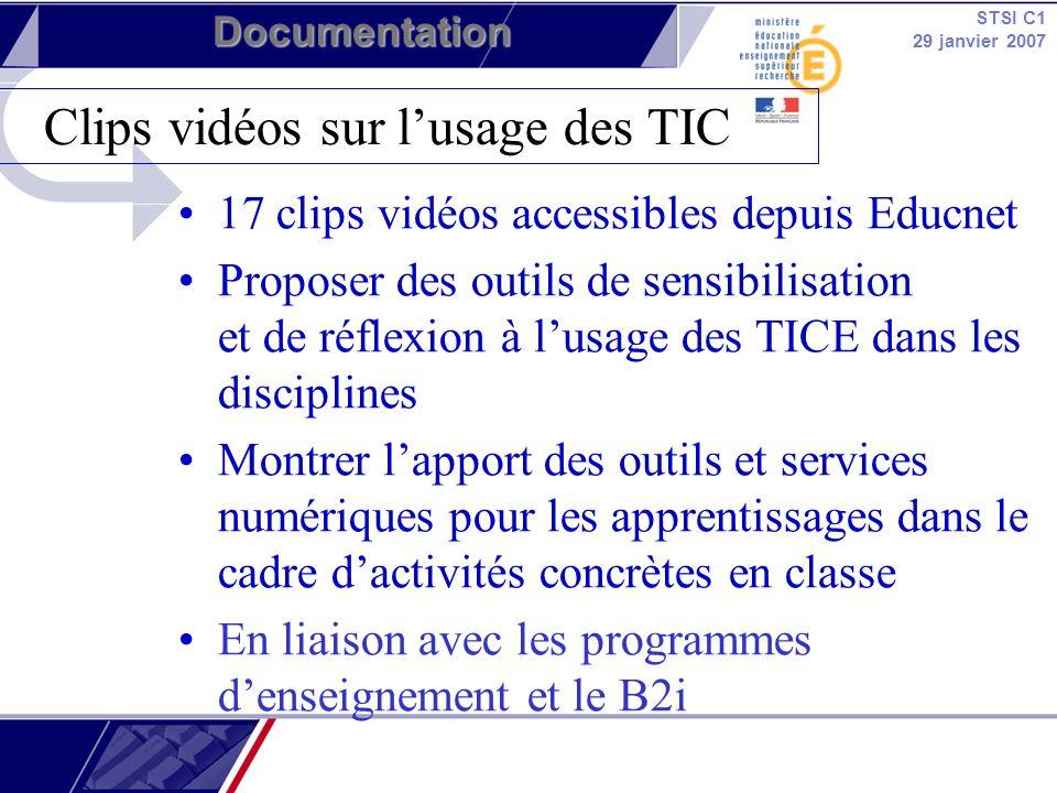 Clips vidéos sur l'usage des TIC
