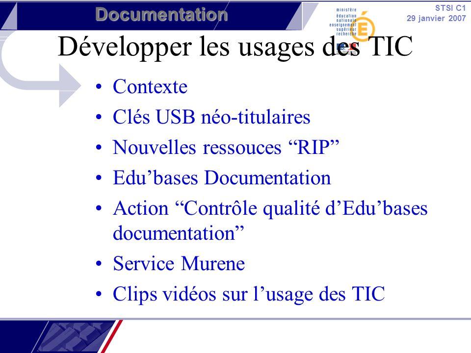 Développer les usages des TIC
