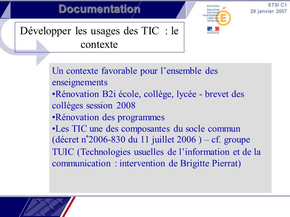 Développer les usages des TIC : le contexte