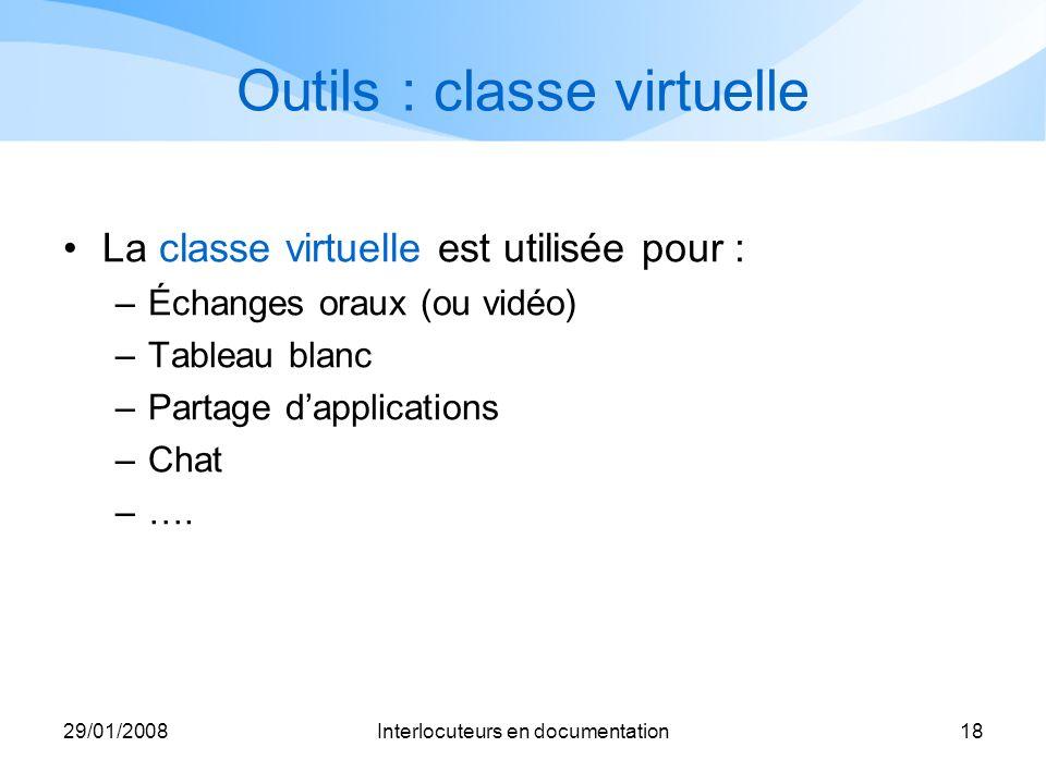 Outils : classe virtuelle