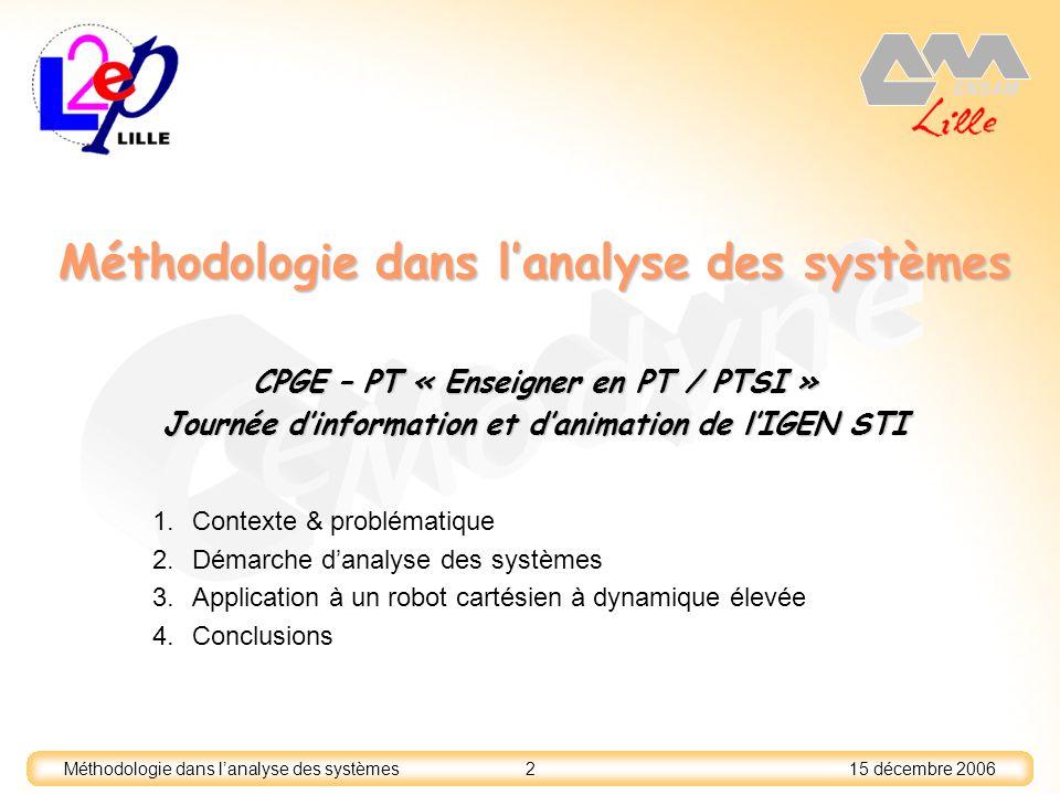 Méthodologie dans l'analyse des systèmes