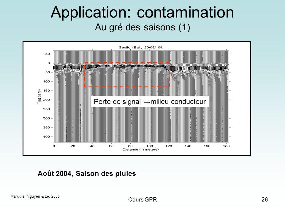 Application: contamination Au gré des saisons (1)