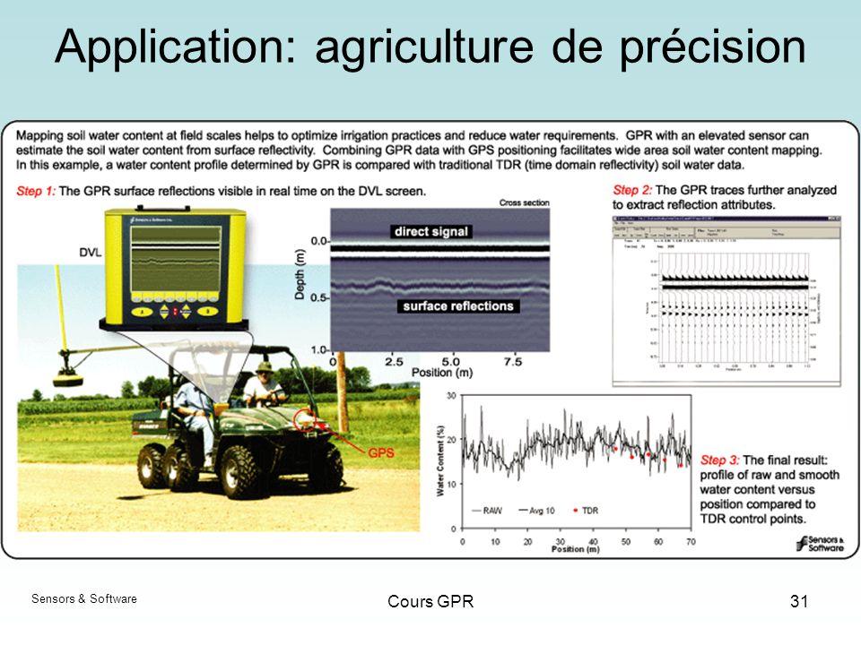 Application: agriculture de précision