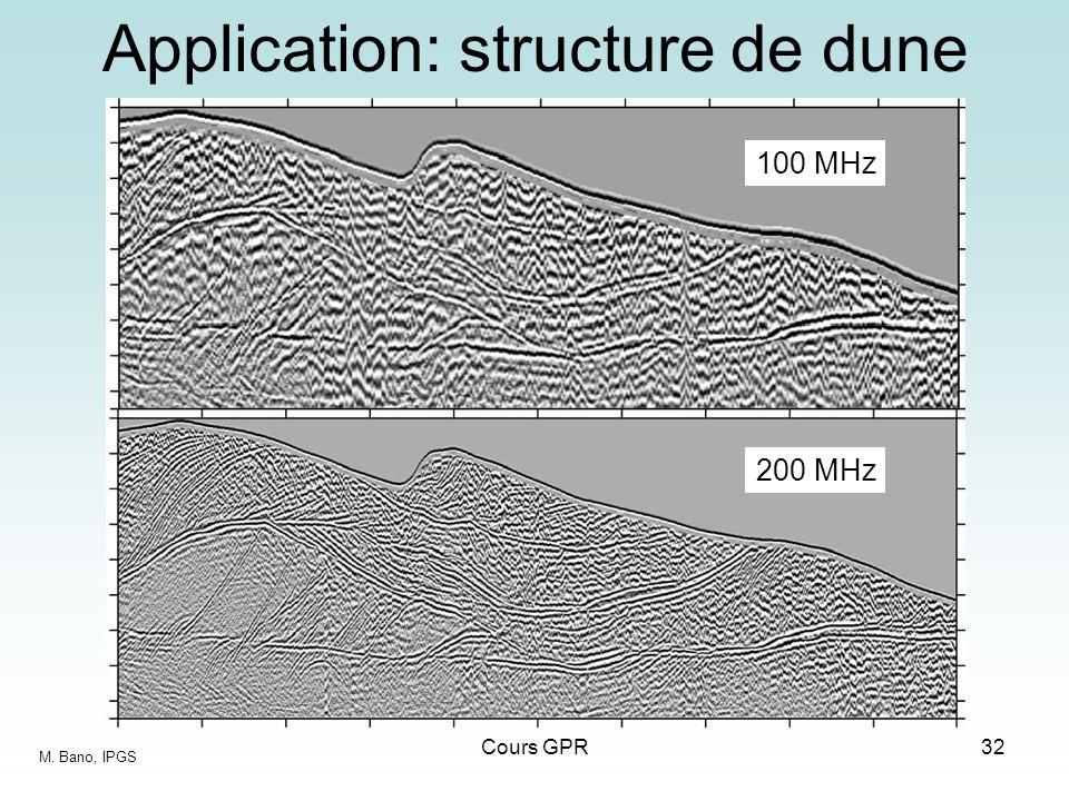 Application: structure de dune