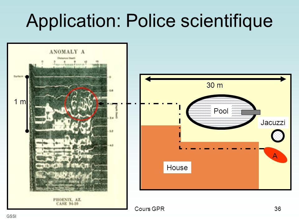Application: Police scientifique