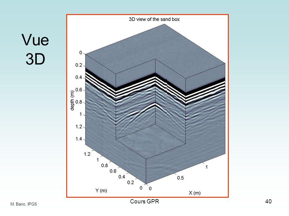 Vue 3D Cours GPR M. Bano, IPGS