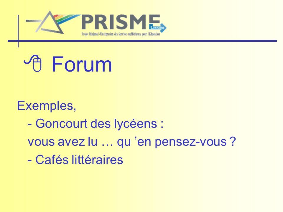  Forum Exemples, - Goncourt des lycéens :