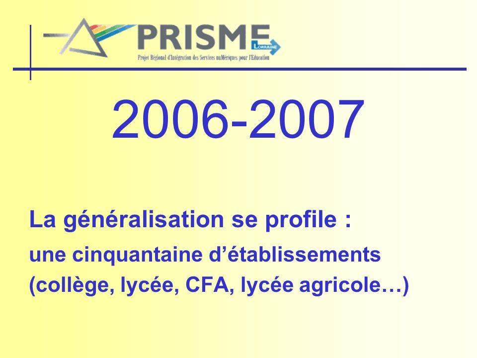 2006-2007 La généralisation se profile :
