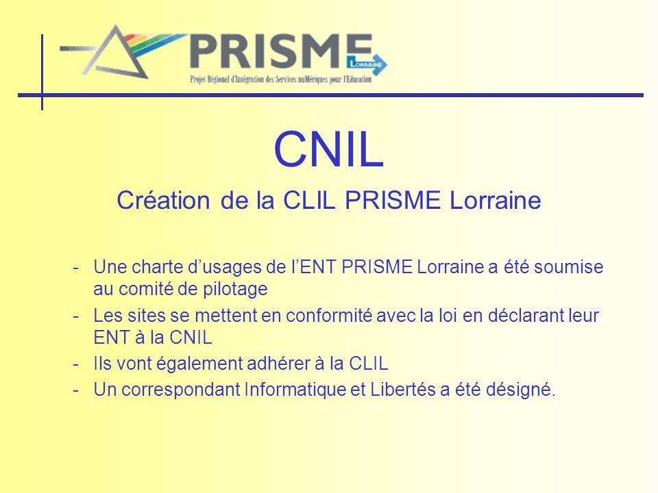 Création de la CLIL PRISME Lorraine