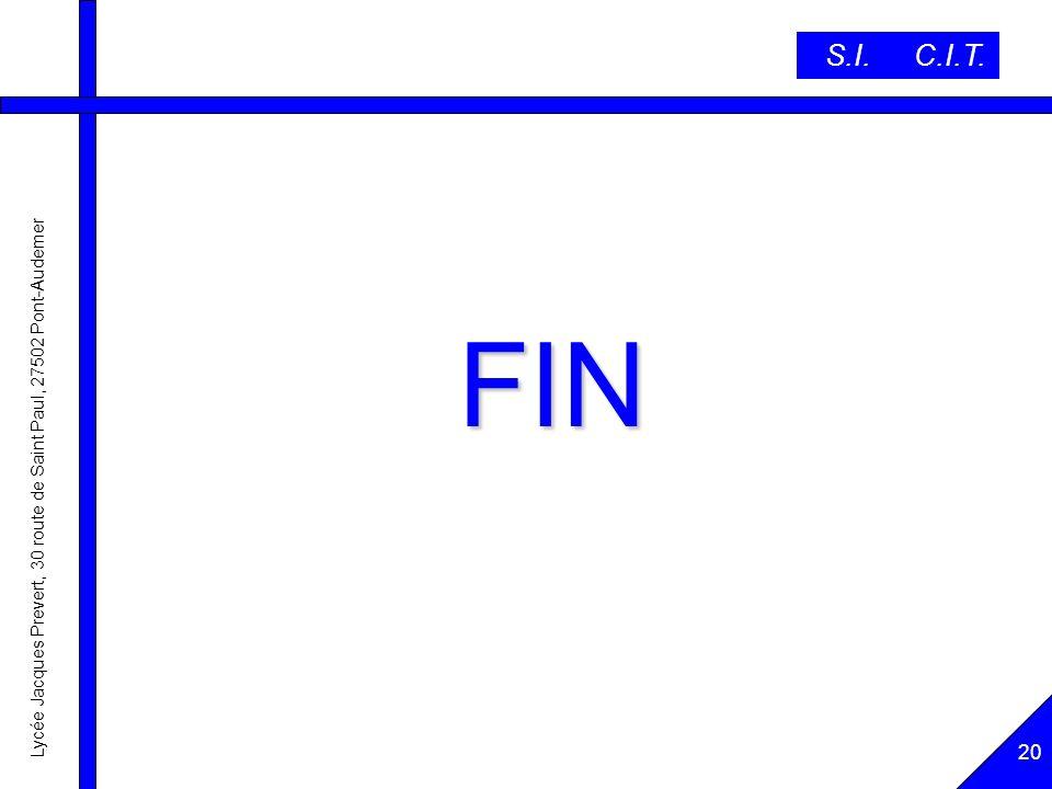 S.I. C.I.T. FIN 20