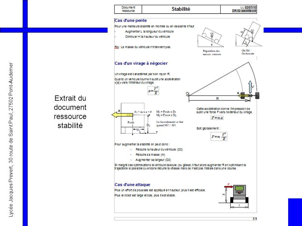 Extrait du document ressource stabilité