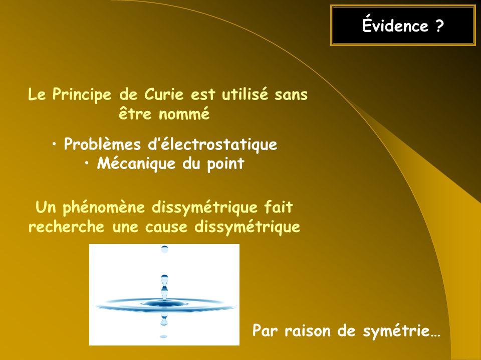 Le Principe de Curie est utilisé sans être nommé
