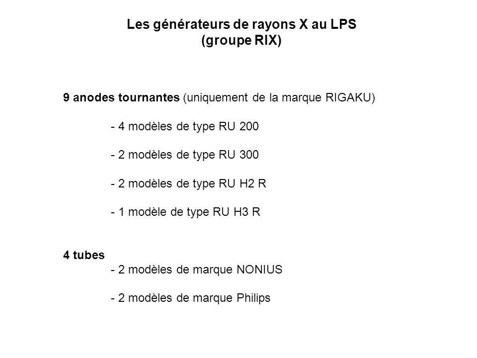 Les générateurs de rayons X au LPS