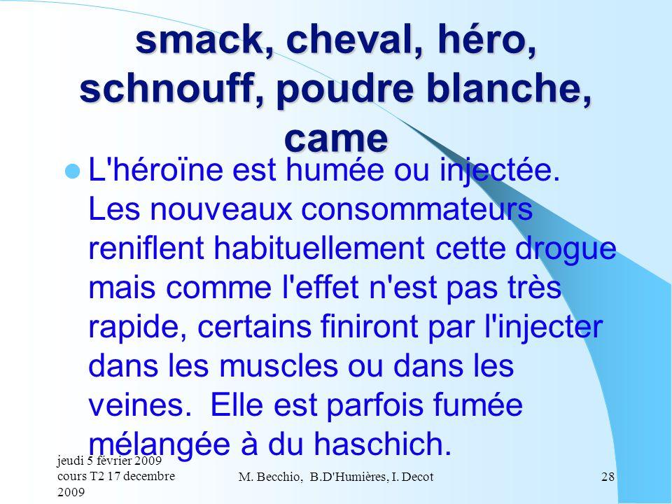 smack, cheval, héro, schnouff, poudre blanche, came