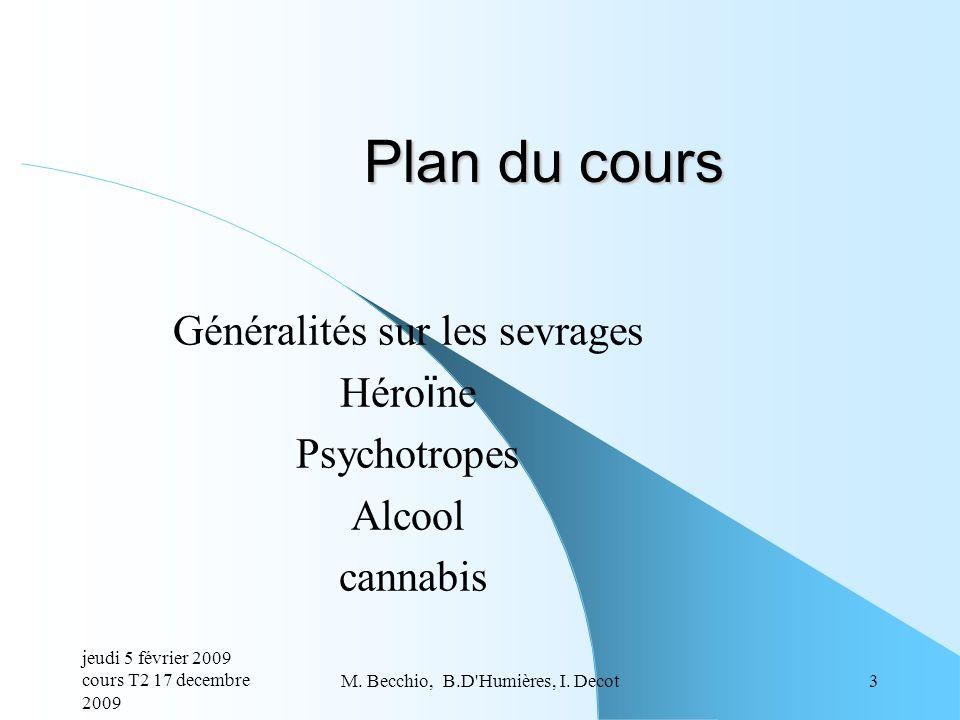 Généralités sur les sevrages Héroïne Psychotropes Alcool cannabis